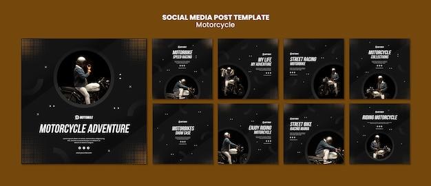 Motorradkonzept social media post Premium PSD