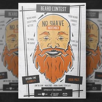 Movember poster vorlage