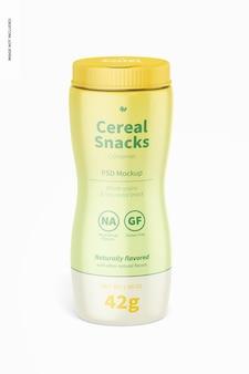 Müsli-snacks-flaschenmodell, vorderansicht