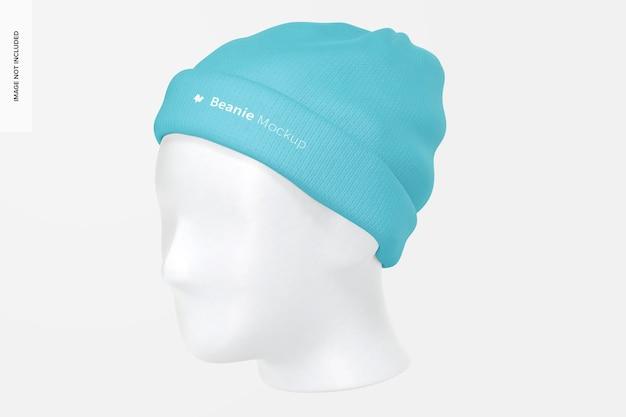 Mütze mit kopfmodell, vorderansicht rechts