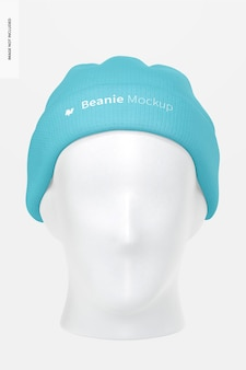 Mütze mit kopfmodell, vorderansicht