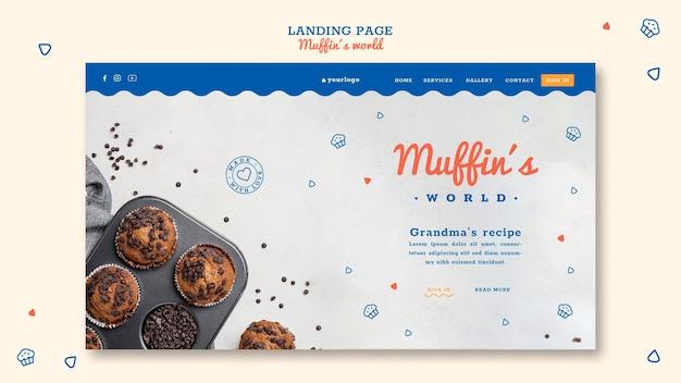 Muffins konzept landing page vorlage