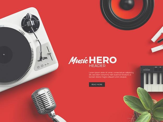 Music fest hero / header benutzerdefinierte szene