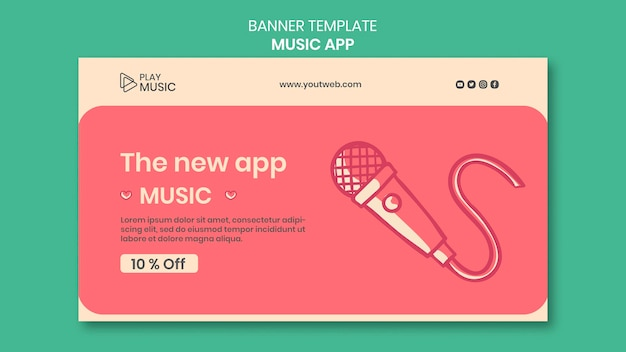 Musik-app-banner-vorlage