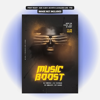 Musik boost party flyer