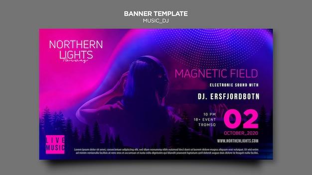 Musik dj banner vorlage thema