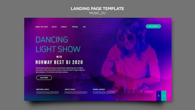 Musik dj landing page thema
