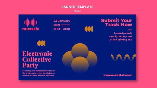 Musik expo banner vorlage