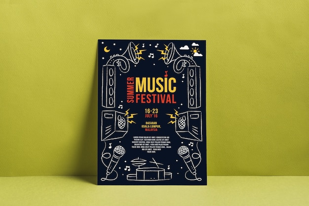 Musik festival plakatmodell