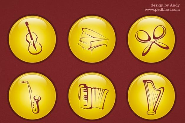 Musik-ikone psd