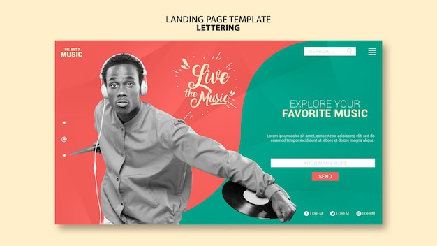Musik-landingpage-vorlage