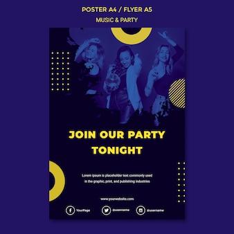 Musik & party konzept party vorlage