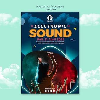 Musik party konzept poster flyer vorlage