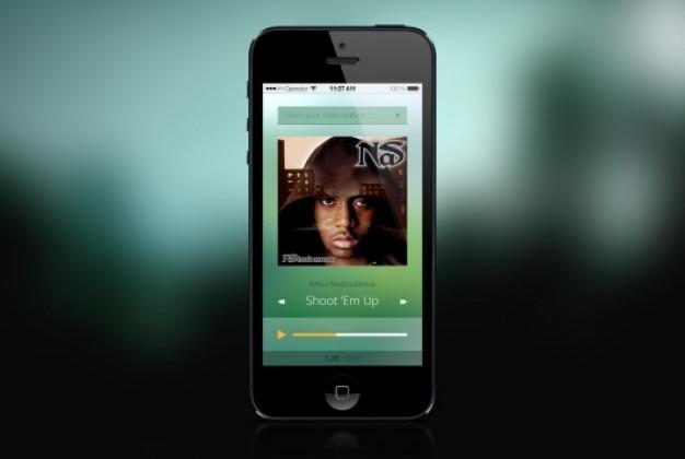 Musik-player mobilen flaches design
