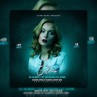 Musik social media post und instagram banner promotion-vorlage