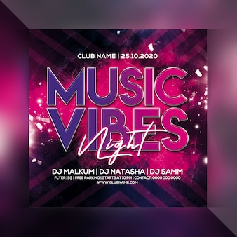Musik vibes party flyer