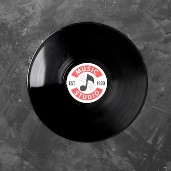 Musik-vinyl-modell