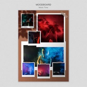 Musik zeit moodboard vorlage