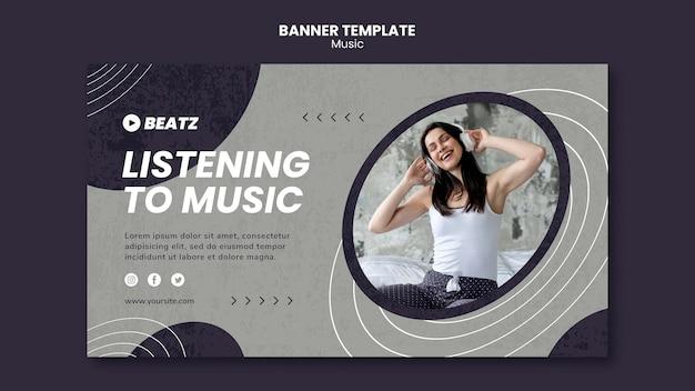 Musikbanner-vorlage
