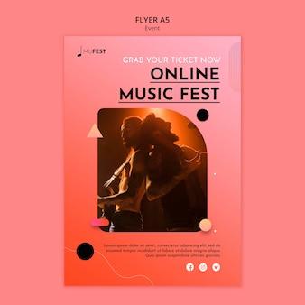 Musikevent-flyer-vorlage