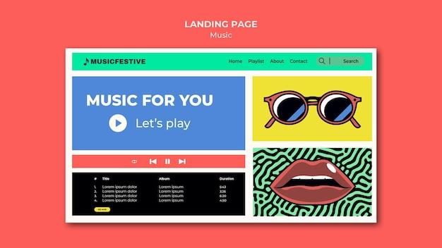Musikfest landingpage vorlage