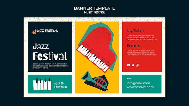 Musikfestival banner vorlage