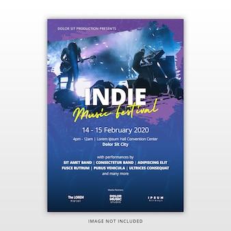 Musikfestival flyer vorlage