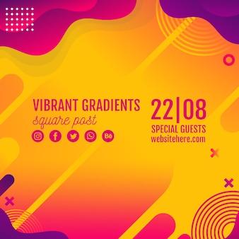 Musikfestival gelbe hintergrundvorlage