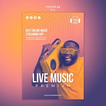 Musikkonzept poster vorlage