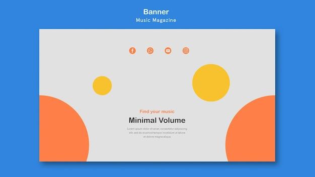 Musikmagazin banner design