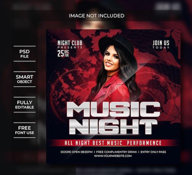 Musiknachtparty flyer