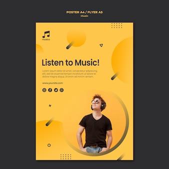 Musikplakatvorlage
