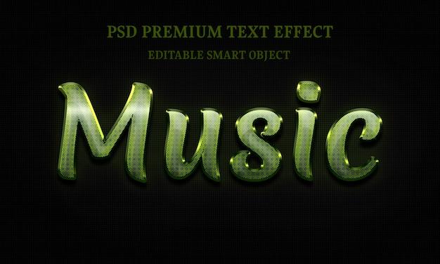 Musiktext-effektporträt der schönen frau