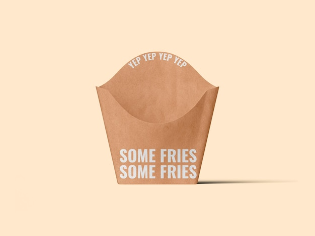 Mustervorlage für pommes-frites-verpackung