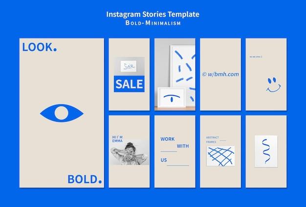 Mutig-minimalistische social-media-geschichten