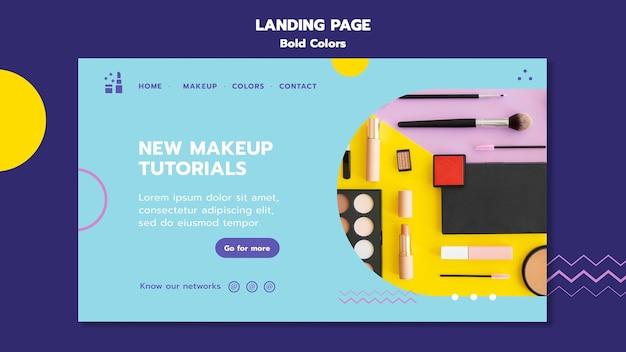 Mutige farben konzept landing page vorlage