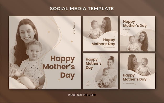 Muttertag bearbeitbare vorlage für social media instagram post banner