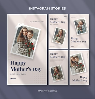 Muttertag bearbeitbare vorlage für social media instagram story banner