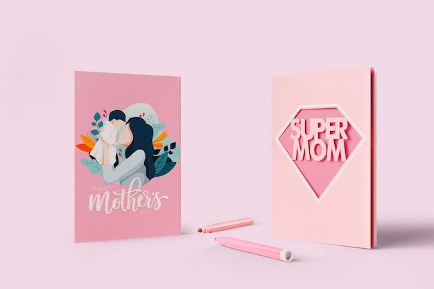 Muttertagsfeierkarte mit modell
