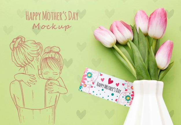 Muttertagskonzept der draufsicht
