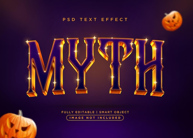 Mythos-texteffekt im 3d-stil