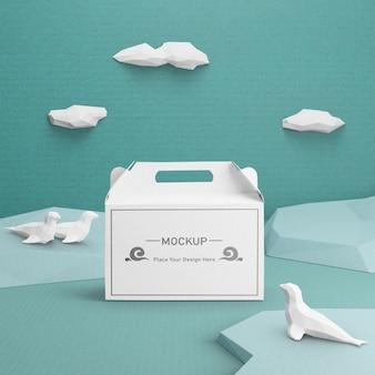 Nachhaltige papiertüte für den tag des ozeans
