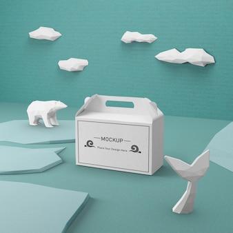 Nachhaltiges ocean day-konzept mit modell