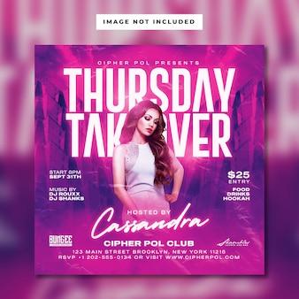 Nachtclub-damenparty-flyer-vorlage