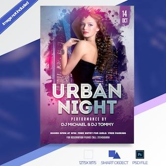 Nachtclub flyer vorlage