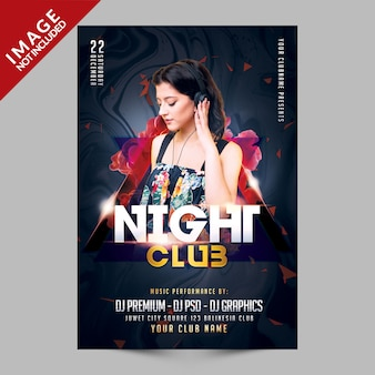 Nachtclub party flyer