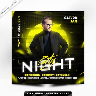 Nachtparty flyer premium