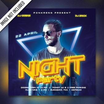 Nachtparty flyer psd