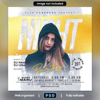 Nachtparty-flyer
