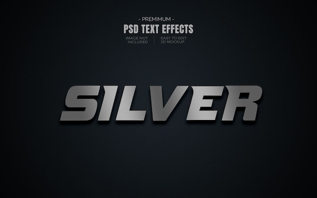 Nächster text 3d-effektmodell